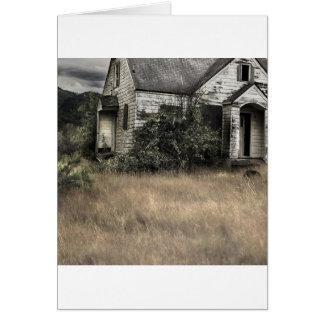 Abstract City Verlassenes Haus Card