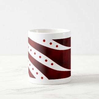 abstract classic white coffee mug