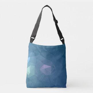 Abstract & Clean Geo Designs - Blue Iron Crossbody Bag