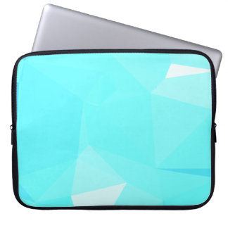 Abstract & Clean Geo Designs - Snowflake Topaz Laptop Sleeve