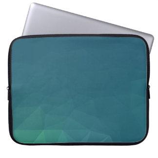 Abstract & Clean Geo Designs - Teal Ocean Laptop Sleeve