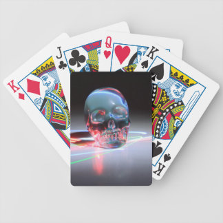 Abstract Clear Skull Bicycle Playing Cards
