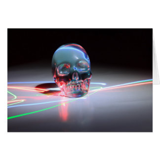 Abstract Clear Skull Card