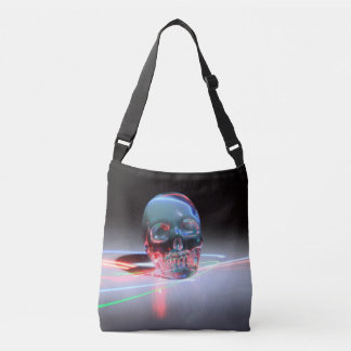 Abstract Clear Skull Crossbody Bag