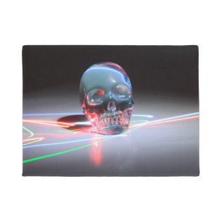 Abstract Clear Skull Doormat