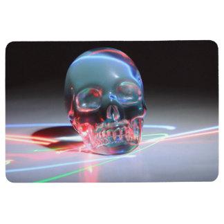 Abstract Clear Skull Floor Mat