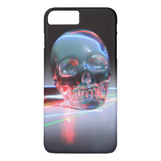 Abstract Clear Skull iPhone 8 Plus/7 Plus Case