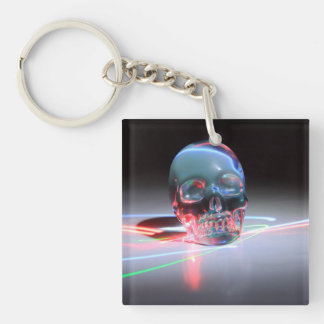 Abstract Clear Skull Keychain