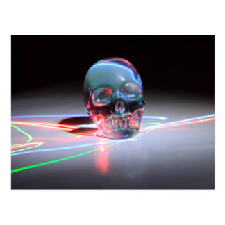 Abstract Clear Skull Postcard