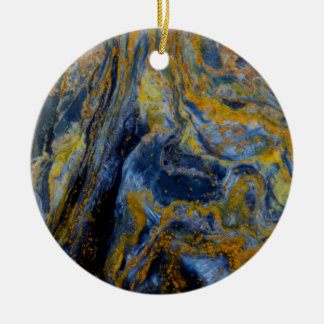 Abstract Close up of Pietersite Ceramic Ornament