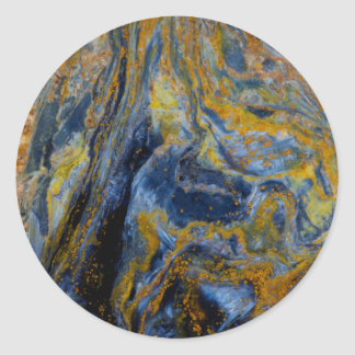 Abstract Close up of Pietersite Classic Round Sticker