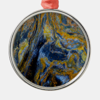 Abstract Close up of Pietersite Metal Ornament