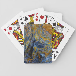 Abstract Close up of Pietersite Playing Cards