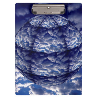 Abstract cloud 3D sphere Clipboard