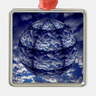 Abstract cloud 3D sphere Metal Ornament
