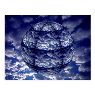 Abstract cloud 3D sphere Postcard