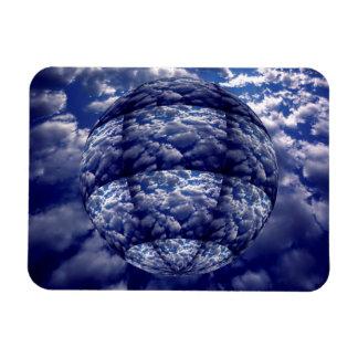Abstract cloud 3D sphere Rectangular Photo Magnet