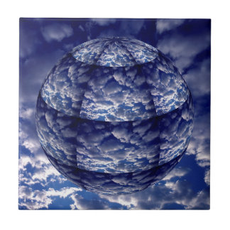 Abstract cloud 3D sphere Tile