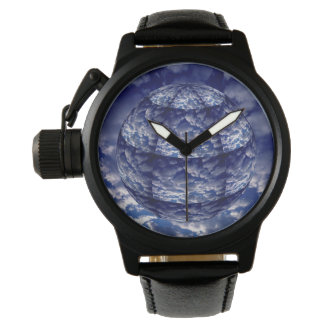 Abstract cloud 3D sphere Wristwatch