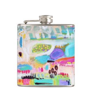 Abstract Clouds Hip Flask
