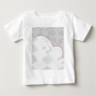 Abstract Clouds Monochrome Gray Design Baby T-Shirt