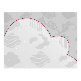 Abstract Clouds Monochrome Gray Design Postcard