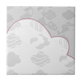 Abstract Clouds Monochrome Gray Design Tile