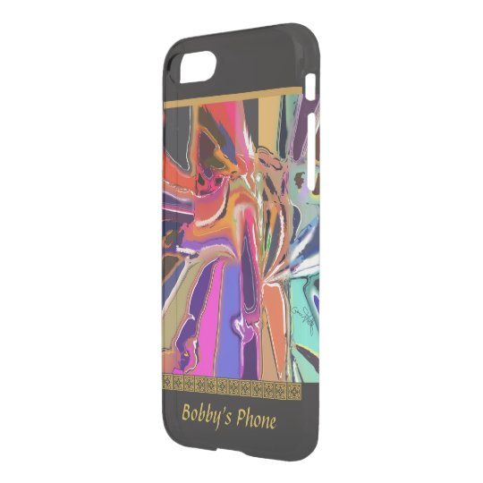 Abstract Clown - Unusual Abstract with Your Name iPhone 7 Case