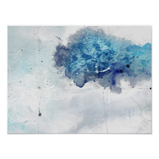 Abstract Colbalt Blue 1 Poster