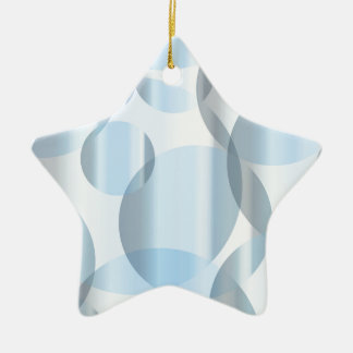 Abstract Cold Blue Circles Ceramic Star Ornament
