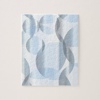 Abstract Cold Blue Circles Jigsaw Puzzle