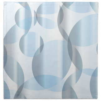 Abstract Cold Blue Circles Napkin