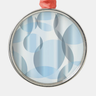 Abstract Cold Blue Circles Silver-Colored Round Ornament
