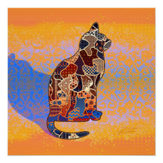 Abstract Collage Clarice the Cat ID103 Perfect Poster