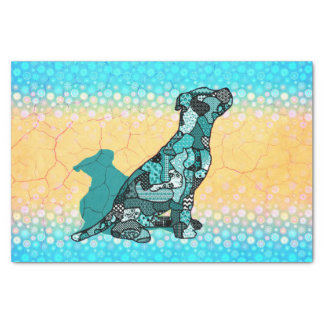 Abstract Collage Domingo the Dog ID106 Tissue Paper
