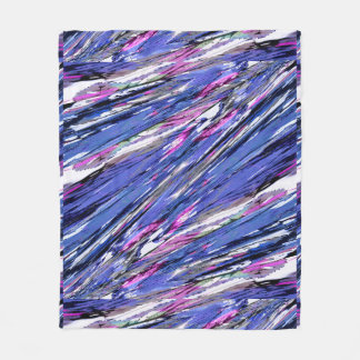 Abstract Collage Fleece Blanket