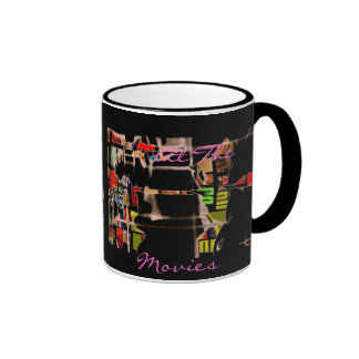 Abstract Collage In Multicolors Ringer Mug