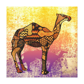 Abstract Collage Ozzy the Camel ID102 Canvas Print