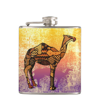 Abstract Collage Ozzy the Camel ID102 Flasks