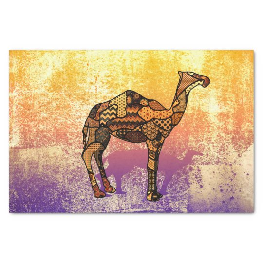 Abstract Collage Ozzy the Camel ID102 Tissue Paper