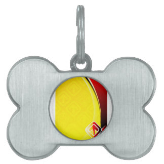 Abstract Color Background Pet Tag