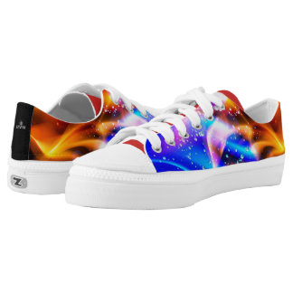 Abstract Color Explosion 101 Low-Top Sneakers