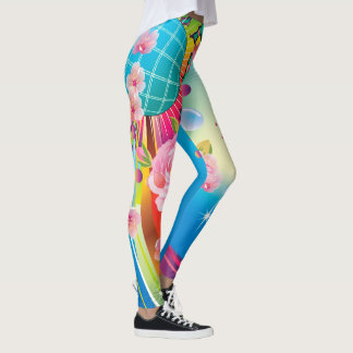 Abstract Color Explosion Unique Leggings