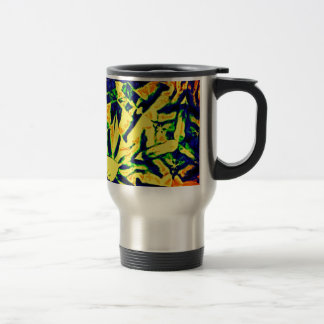 Abstract Color Mix 15 Oz Stainless Steel Travel Mug