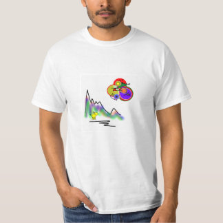 abstract color moon T-Shirt
