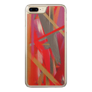 Abstract Color Paint Brush Stroke #8 Carved iPhone 7 Plus Case