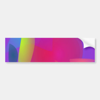 Abstract Color Relaxation Bumper Sticker