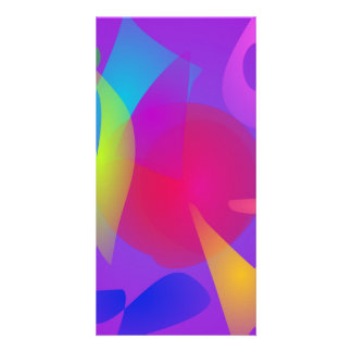 Abstract Color Relaxation Personalized Photo Card