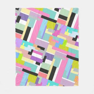 Abstract color shape fleece blanket