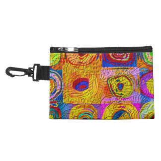 Abstract Color Swirls Accessory Bag